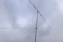 40 meter Buddy-Pole up 30 feet with guy ropes
