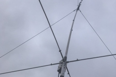 Club 'Beast' antenna supported with guy ropes