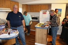 Doug and Terry finally ready to eat after preparing food